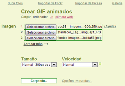 Picasion - Crear GIF online