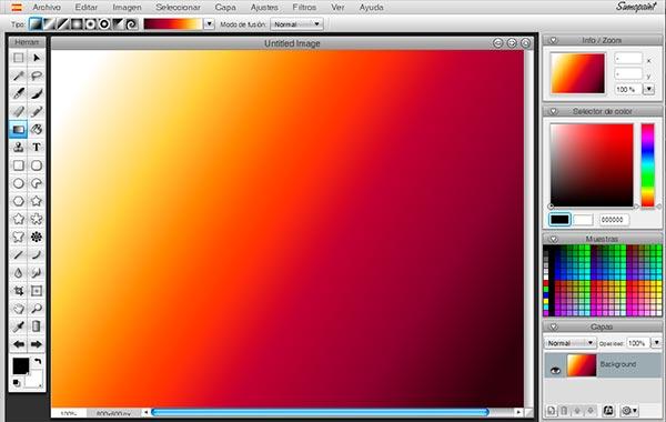 SumoPaint - Página para editar fotos