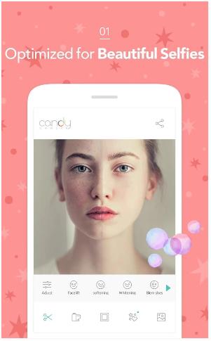 Candy Camera para los mejores selfies2