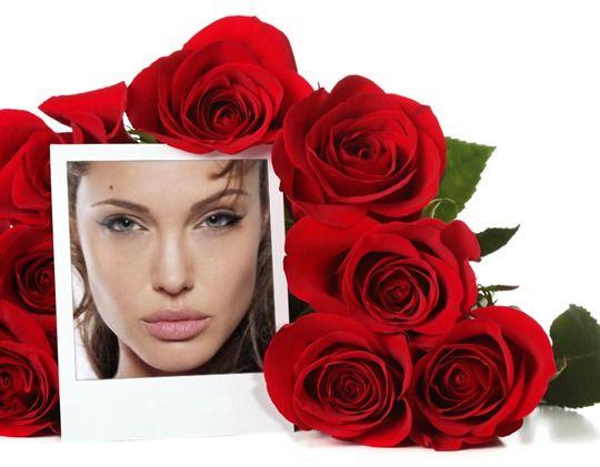 Cuadro de foto con rosas
