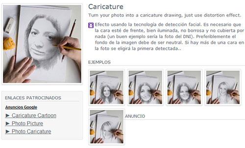 Ejemplos del efecto dibujo a lápiz