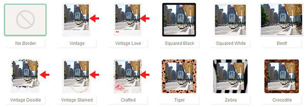 Escoger algún marco Polaroid