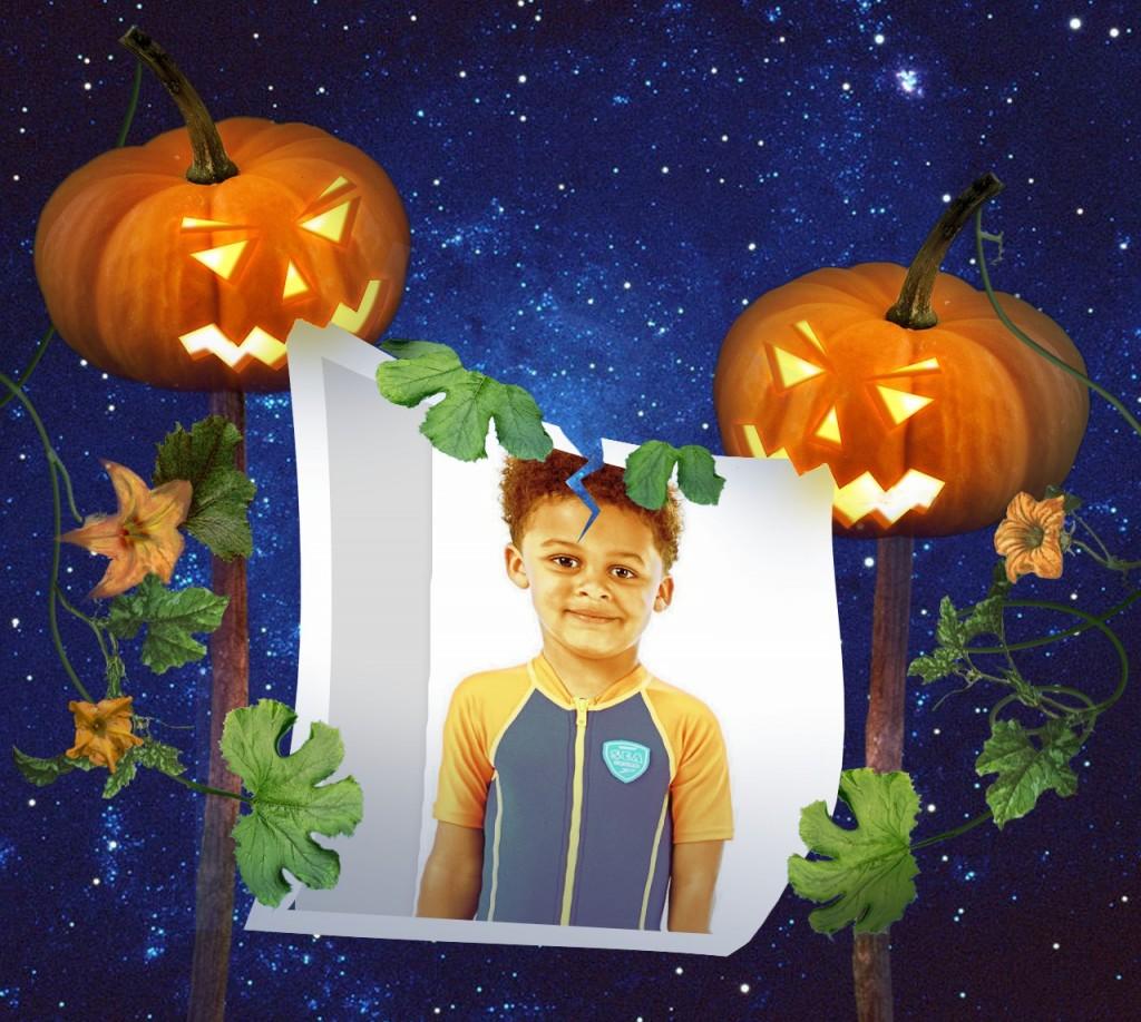 Marco de foto para Halloween