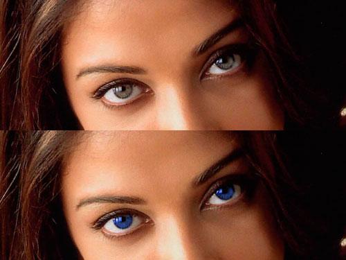 Cambiar color de ojos con Sumo Paint