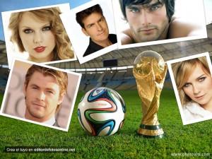 Collage de fotos del Mundial Brasil 2014