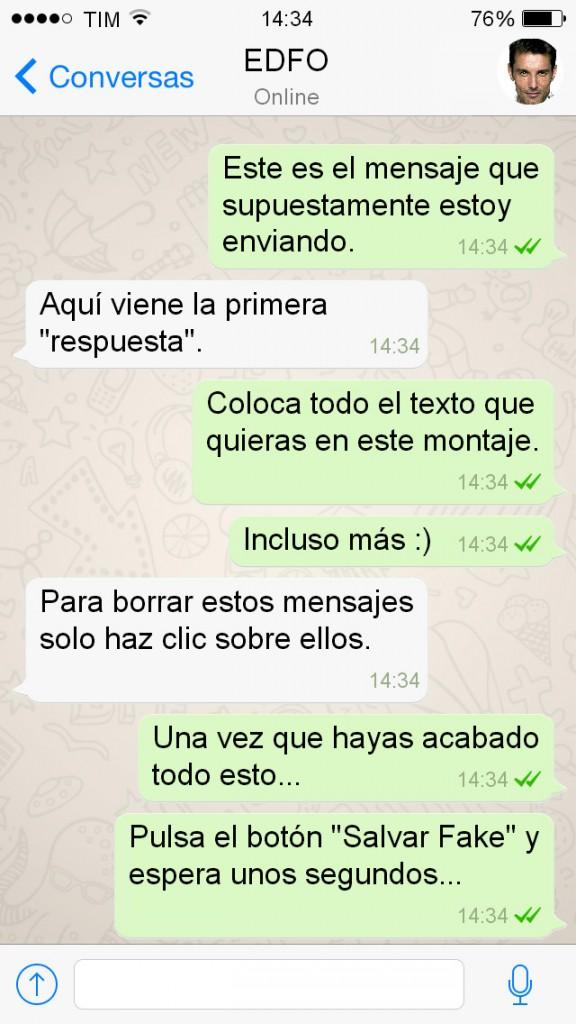 Mensajes falsos en la aplicación Whatsapp