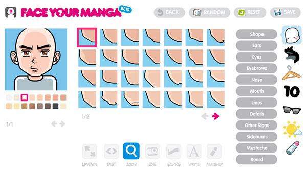 Aplicación Face Your Manga