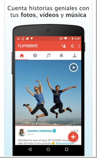 Flipagram - Aplicación para crear videos