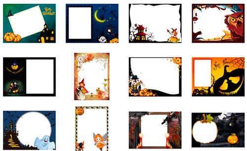 Marcos para fotos en Halloween